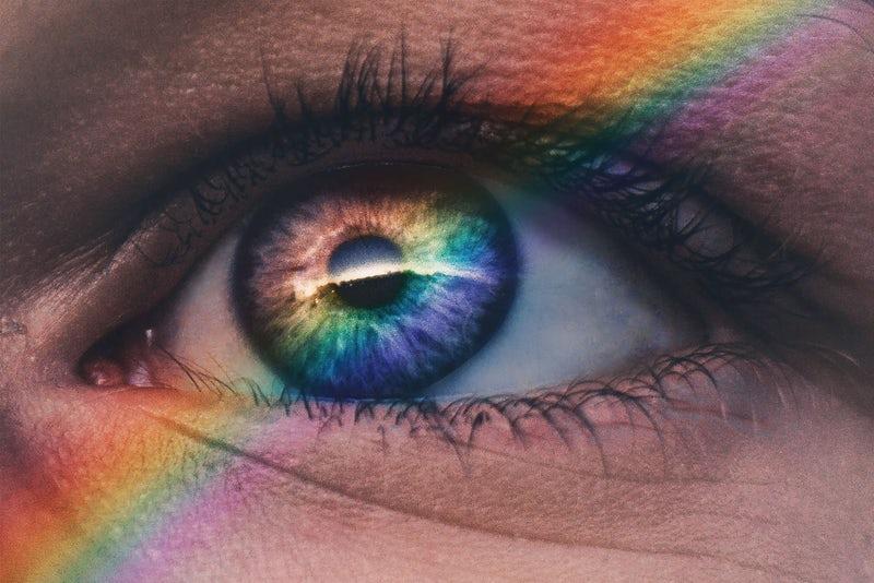 Modern mystery school rainbow eye